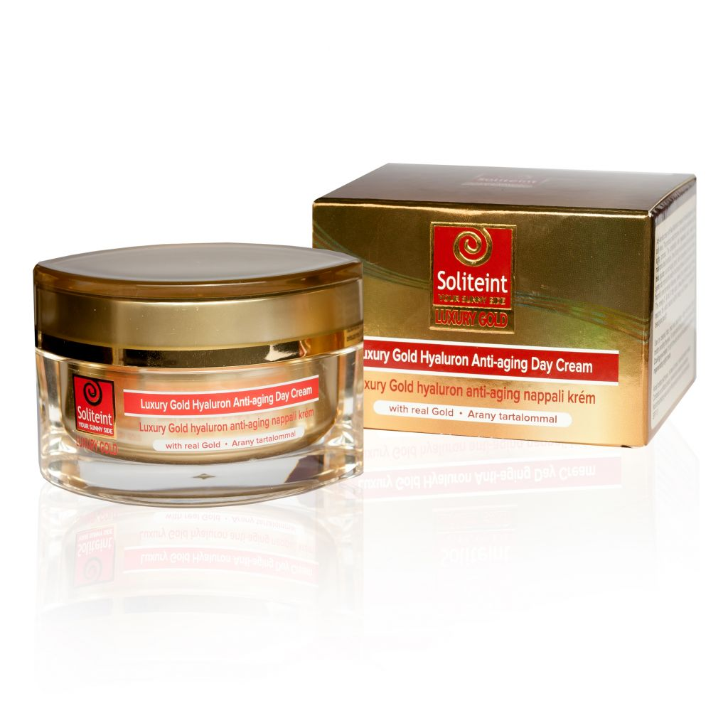Soliteint Luxury Gold-Hyaluron nappali anti-aging krém..